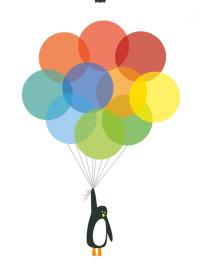 Motiv #017 - fliegender-pinguin