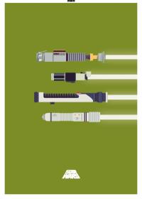 Motiv #101 - lichtschwerter-gruen