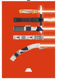 Motiv #102 - lichtschwerter-rot