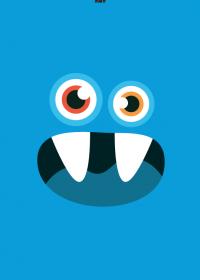 Motiv #090 - monster-blau