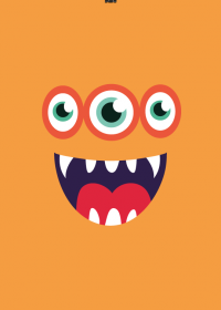 Motiv #039 - monster-orange