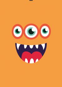 Motiv #039 - monster-orange