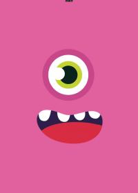 Motiv #091 - monster-pink
