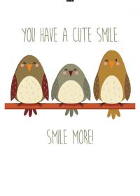 Motiv #087 - you-have-a-cute-smile